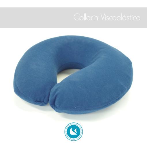 Collarín viscoelástico de tamaño reducido especial para las cervicales, tamaño especial viaje.