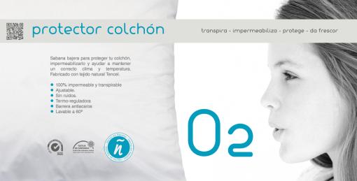 Sabana bajera protector de Tencel, impermeable, transpirable,no hace ruido, evita el calor en los colchones de Viscoelástica, la mejor protección de su colchón.