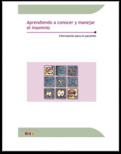 """Portada de la guía """"Aprendiendo a conocer y manear el insomnio"""" de la Sociedad Española del Sueño"""