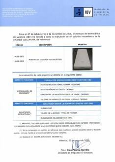 Certificado de Ensayos realizados en IBV